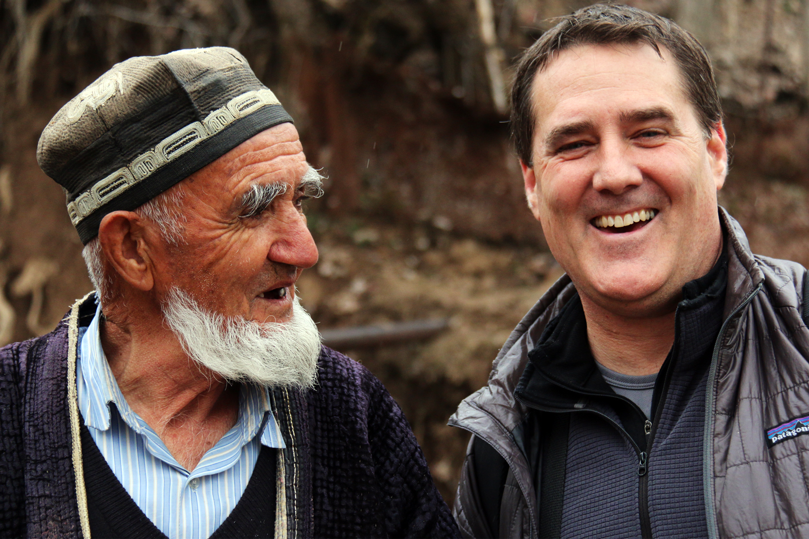 Tajikistan local with tourist
